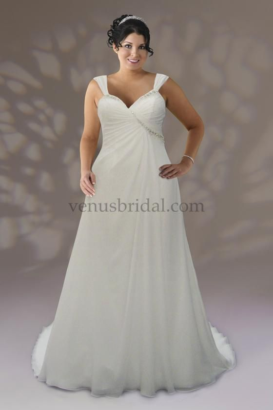 92 best plus size wedding dresses images on pinterest for Wedding dresses for pear shaped women