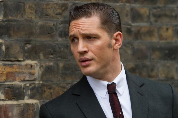 Seeing double: Reggie Kray as portrayed by British actor Tom Hardy in box office smash Legend, in which he also plays Ronnie