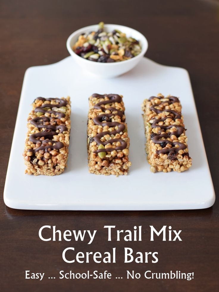 Chewy trail mix cereal bars recipe cereal gluten free for Food bar 810