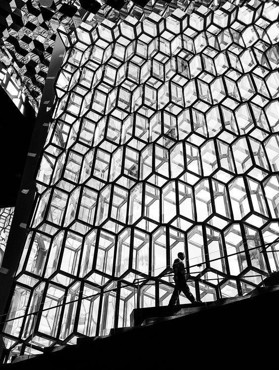 Inside Harpa Concert Hall in Reykjavik, Iceland - photo by Kamil Grygo, via Your Shot, National Geographic  (7/22/16)