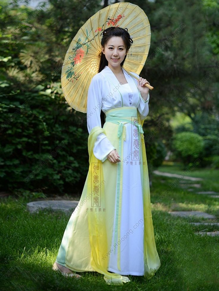 Women's Chiffon Skirt Ruqun dress Beautiful Fairy Tang Dynasty Hanfu Clothing - USD $ 235.00