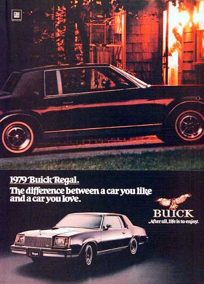 1979 buick regal coupe original vintage advertisement the difference between a car you like and. Black Bedroom Furniture Sets. Home Design Ideas