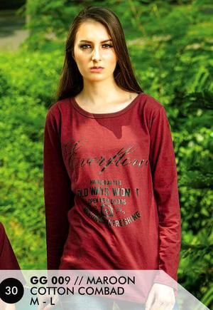 Kaos Long T Shirt Wanita Casual dan Trendy [GG 009] (Brand Everflow) Free Ongkir