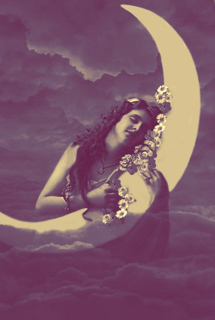 moon lady, Vintage Woman