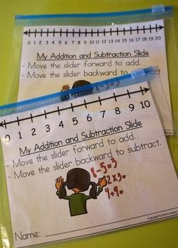 Addition and Subtraction Sliders
