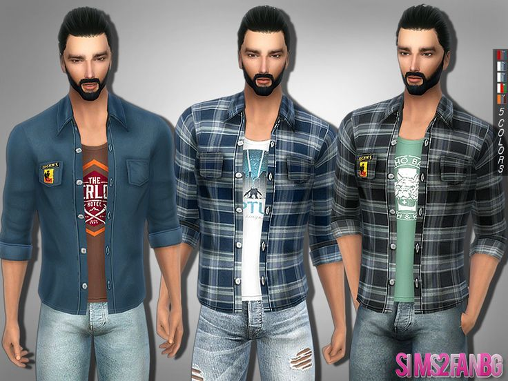 .:295 - Plaid shirt:.  Found in TSR Category 'Sims 4 Male Everyday'