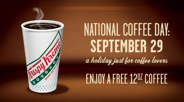 Monday, September 29th is National Coffee Day! Enjoy a free or reduced coffee at these locations: Brooklyn Water Bagel Co.– Free Hot or Iced Coffee with Any Menu Item Purchase on 9/29 Dunkin' Donuts– FREE 12 oz Dark Roast Coffee on 9/29 Holiday StationStores Coupon– 69¢ Hot Coffee or Cappuccino thru 10/12 Kangaroo Express– 1¢ …