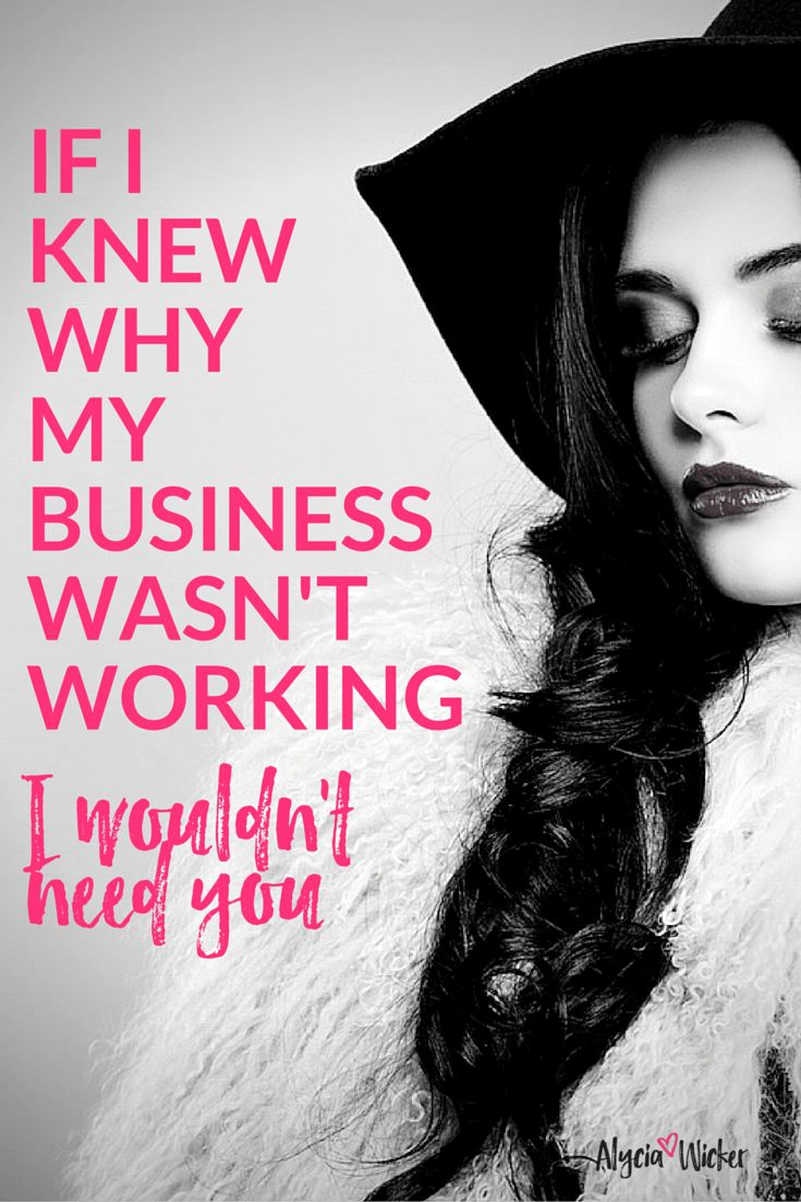 You can tell a lot about why a person's business isn't growing. It doesn't come down to lack of knowledge. You can figure out anything or hire someone to do it