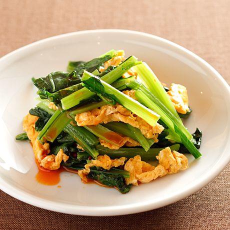 小松菜のピリ辛卵炒め   沼口ゆきさんの小鉢の料理レシピ   プロの簡単料理レシピはレタスクラブネット
