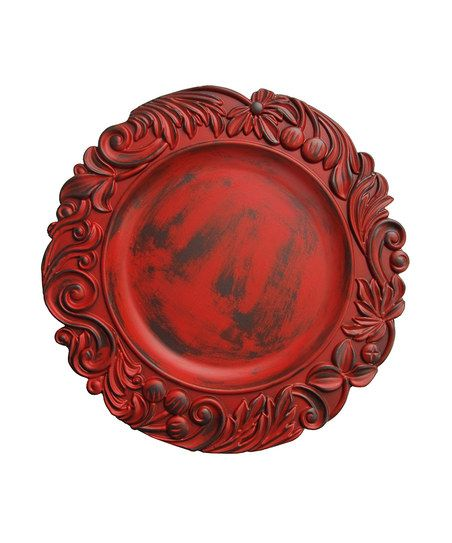 For the Christmas tablesetting.  Red Aristocrat Charger Plate from Zulily.