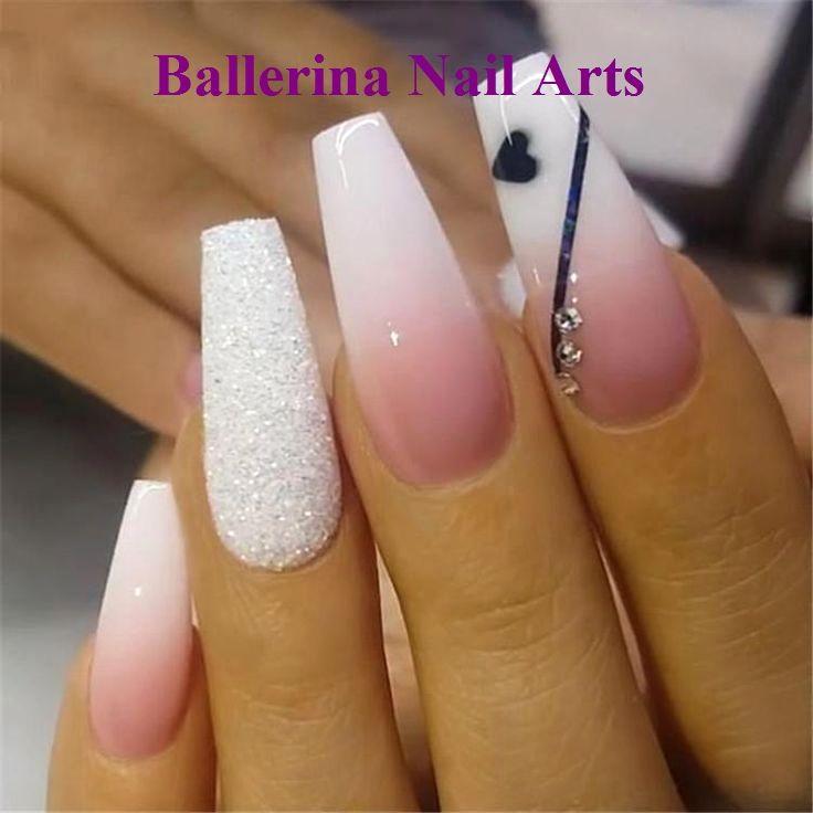 Trendige Designs für Ballerina-Nägel #nailartideas #ballerinanail   – Diy Ballerina Nails