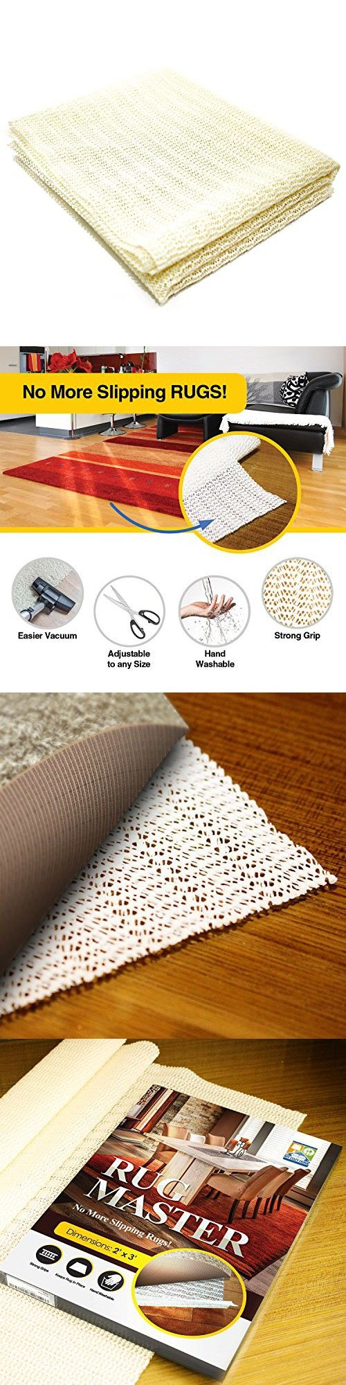 My Cozy Home Rug Gripper, 2x3-Feet Area, Washable Non Slip Rug Pad