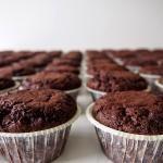 Suklaa-viski-pekoni cupcake