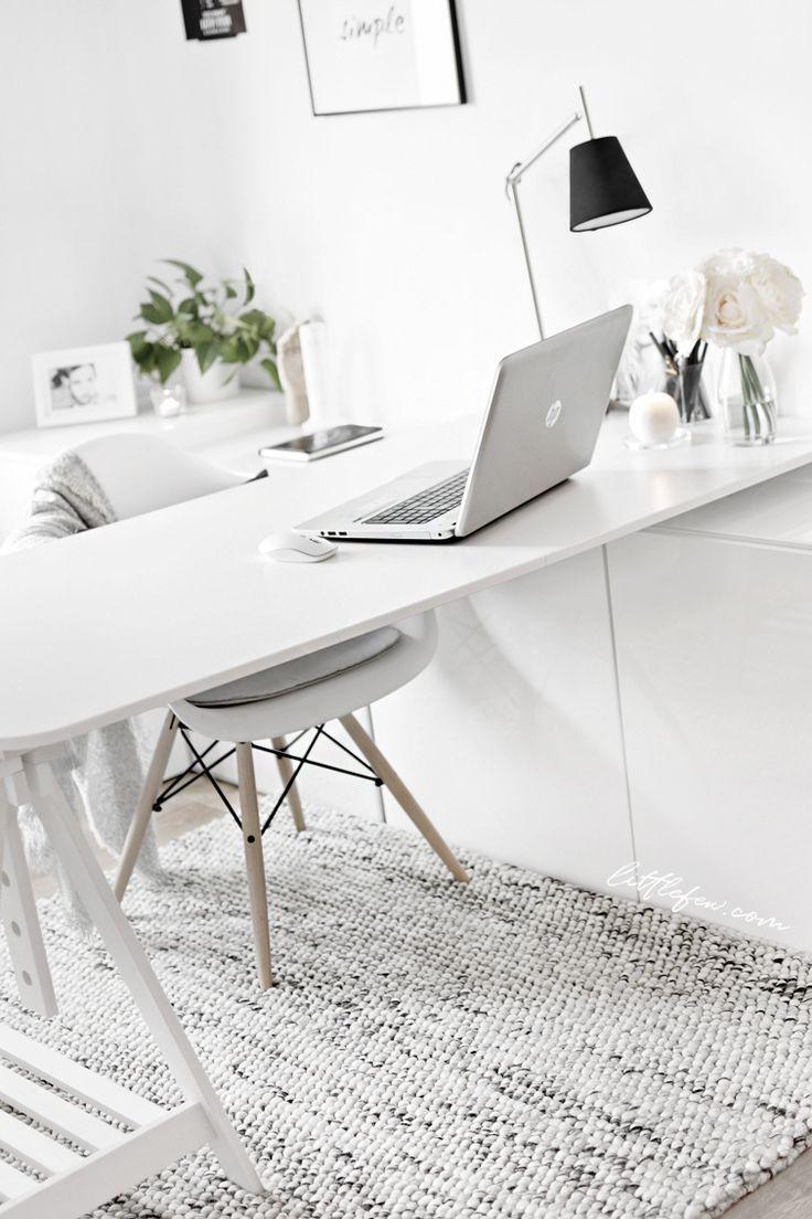A Handmade Rug In My Workspace Littlefew Com Storage White Decor Minimal Desk Nordic Style Ikea Workspace Home Office Decor Office Inspiration Workspaces