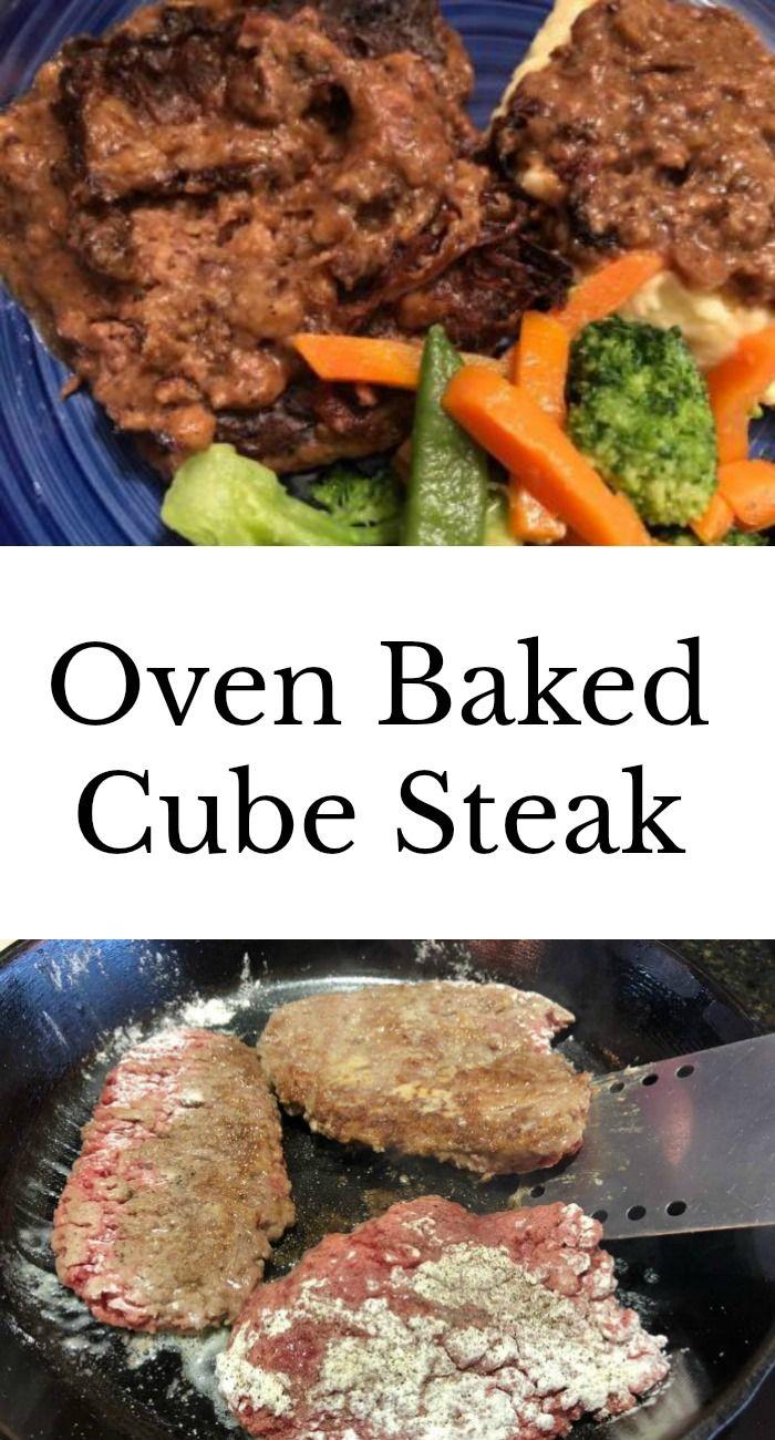 Oven Baked Cube Steak My Windowsill Recipe Cube Steak Recipes Beef Cube Steak Recipes Tender Cube Steak Recipe