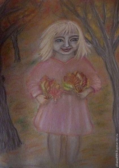 """Картина пастелью """"Осенние радости"""" - картина,пастельная бумага,подарок"""