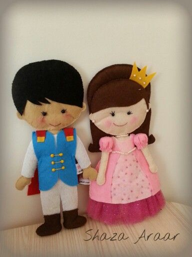 Prince and Princess  ♡♡♡ Doll felt ... my work ....