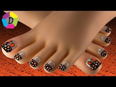 Moño y Lunares | Decoración de Uñas para Pies Fácil | Bow & Dots Foot Nail Art - YouTube
