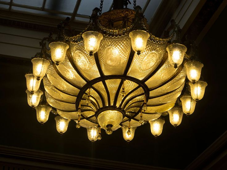 The Grand Chandelier From The First Class Lounge