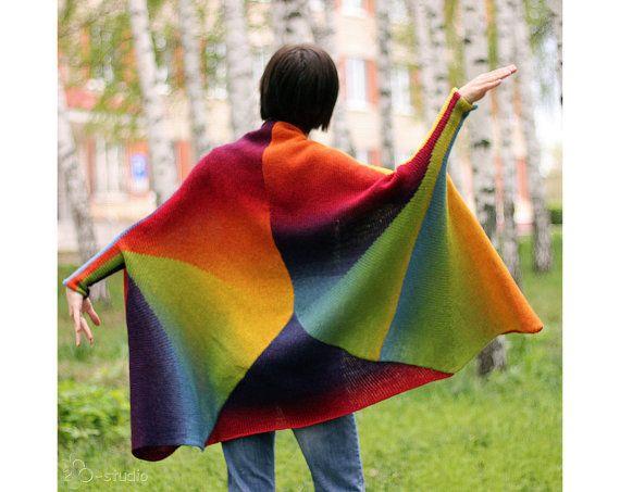 Hand Knit oversized  Sweater coat  for Women por ToBeStudio en Etsy