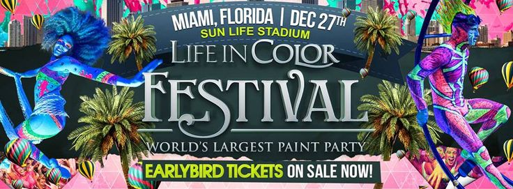 ★★Life In Color  Committee Ent. presents...★★  Life In Color (formerly DayGlow) Miami ... LIC Miami Festival 12/27/2013 - Life In Color - World's Largest Paint Party in #MiamiGardens #Florida via @Event2me @ThomasAvellan http://www.event2me.com/6619112