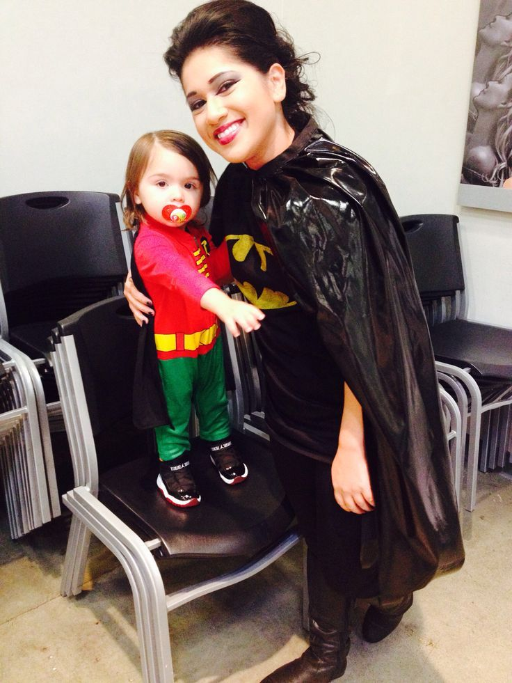 Monday and son batman and robin