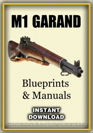 """M! Garand Rifle Manuals & Blueprints - Instant Download. The M1 Garand (officially designated as U. S. rifle, caliber .30, M1, later simply called Rifle, Caliber .30, M1, also abbreviated as US Rifle, Cal. .30, M1) is a semi-automatic rifle chambered for the .30-06 Springfield rifle cartridge. It was the first standard-issue semi-automatic rifle. Called """"the greatest battle implement ever devised"""" by General George S. Patton, the Garand officially replaced the bolt-action M1903 Springfield…"""
