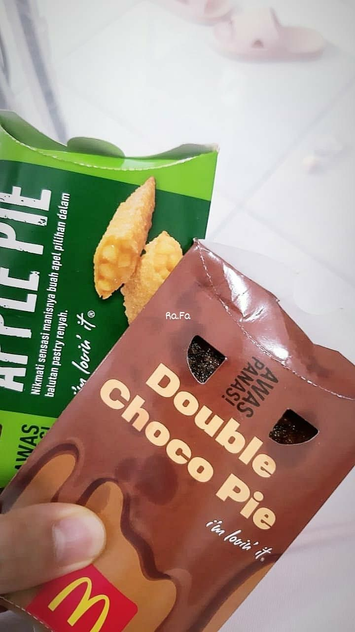 Choco Pie Mcd : choco, CHOCO, APPLE, Pastry,, Manis,