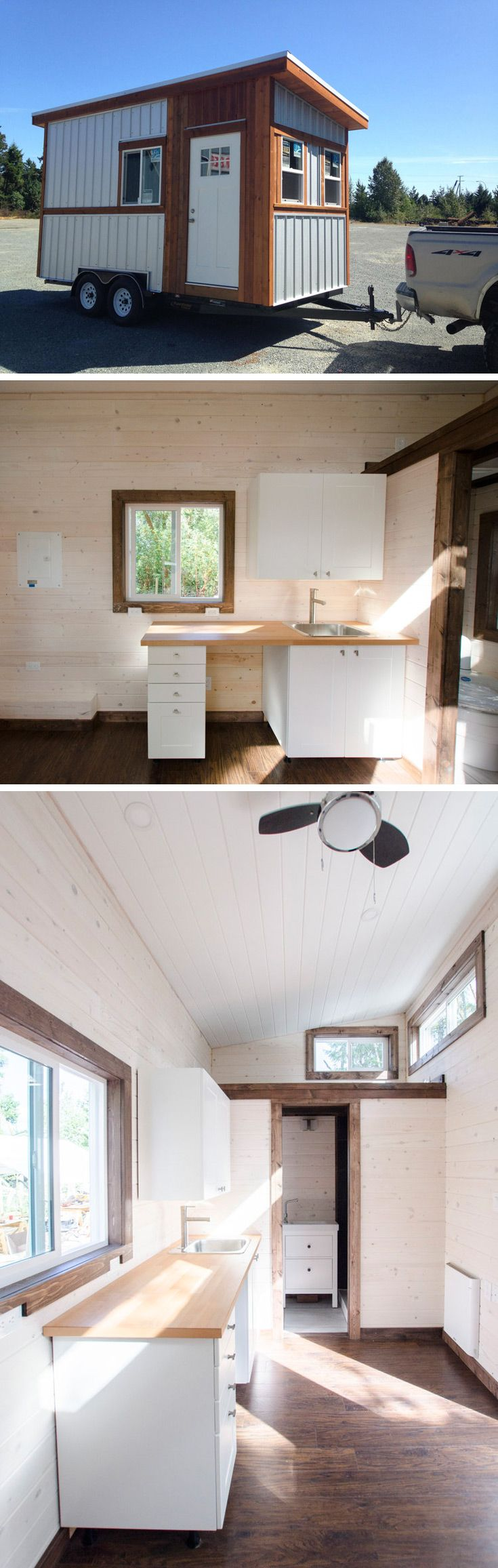 Stormey is a simple yet will-built tiny house that includes all the basic necessities you need.  The small size also makes it very easy to tow.