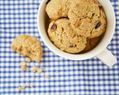 Arašídové sušenky s brusinkami -- Peanut Butter Cookies with Cranberries