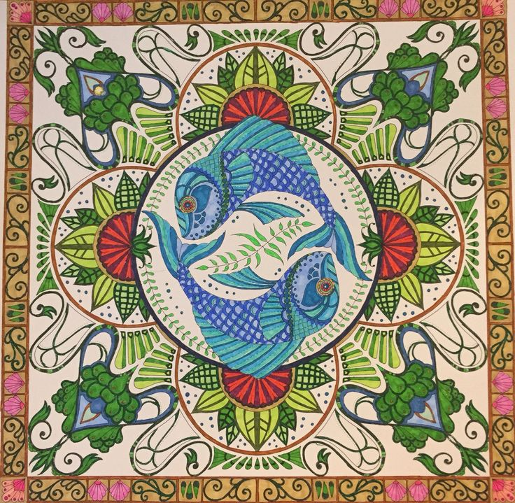 salmon mandala coloring pages - photo#36