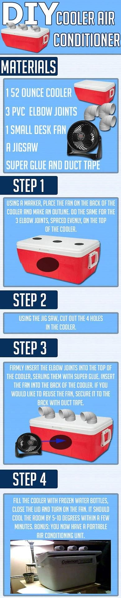 diy air conditioner from cooler.  maybe for camping during the summer?  I dunno...