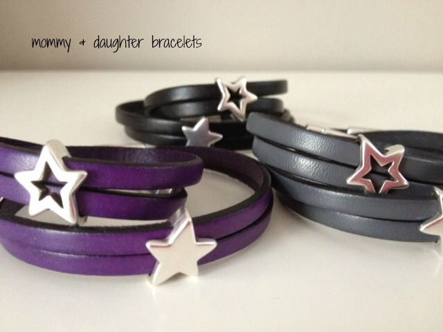 Great mommy & daughter matching leather bracelets! Perfect for gifts!