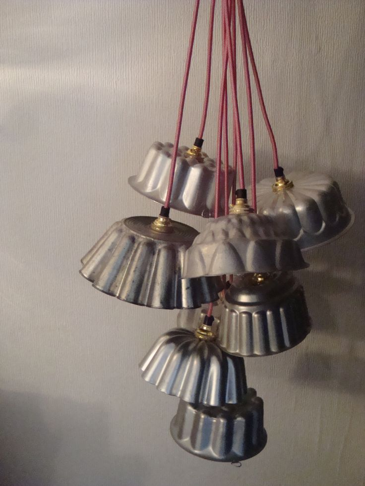 Vintage jelly mould cluster light. Www.lostandfoundry.co.uk