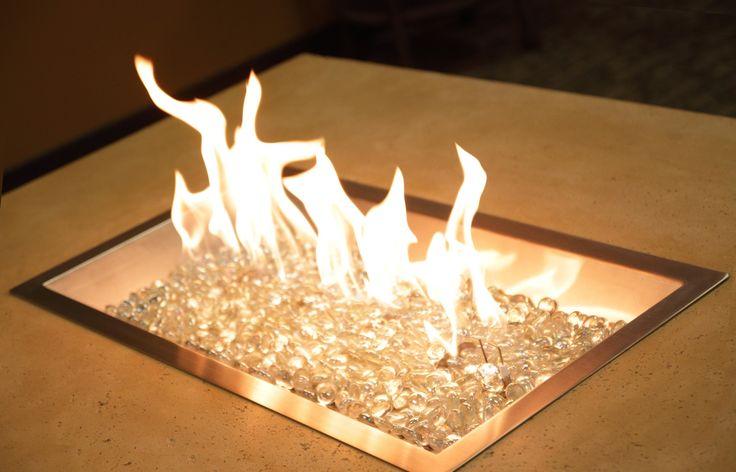 Steel / Glass Gas Fire Pit