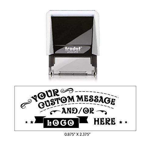 """Trodat 0.875"""" X 2.375"""" - Medium Self-Inking Rubber Stamp Any Ink Color"""