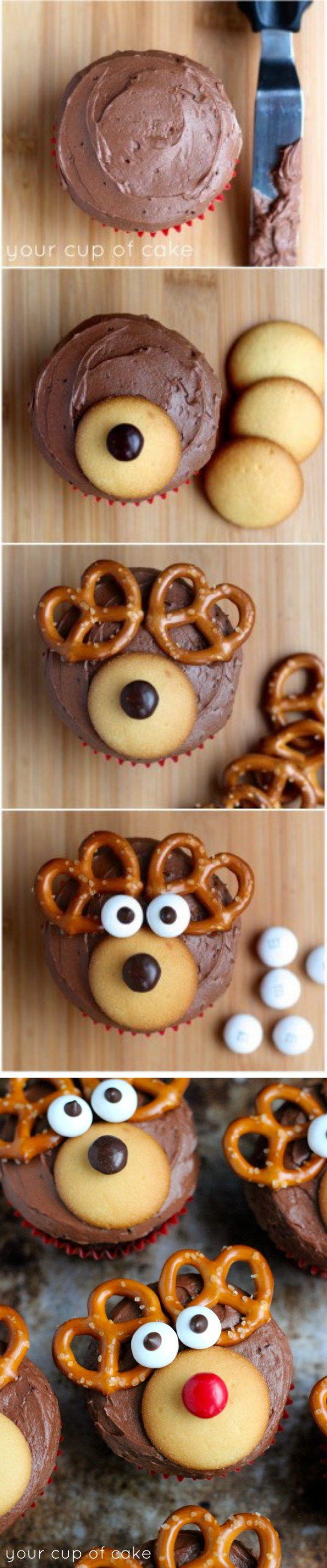 Homemade Reindeer Cupcakes.
