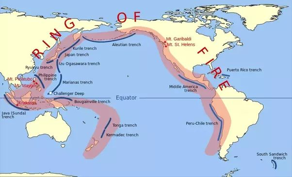 The Pacific plate's Ring of Fire is the most active earthquake zone.About 90% of the world's earthquakes and 81% of the world's largest earthquakes occur along the Ring of Fire.