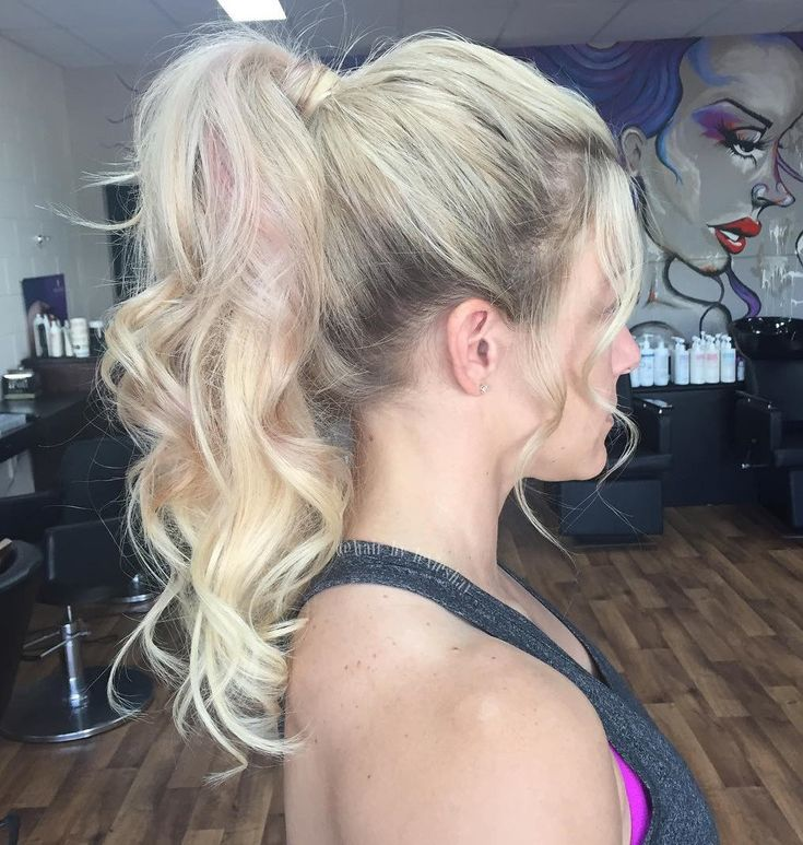 Casual Curly Ponytail