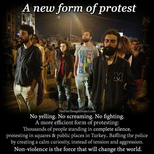 If protests were like this, I'd go. But if they keep yelling and being violent I will NEVER attend a protest again.
