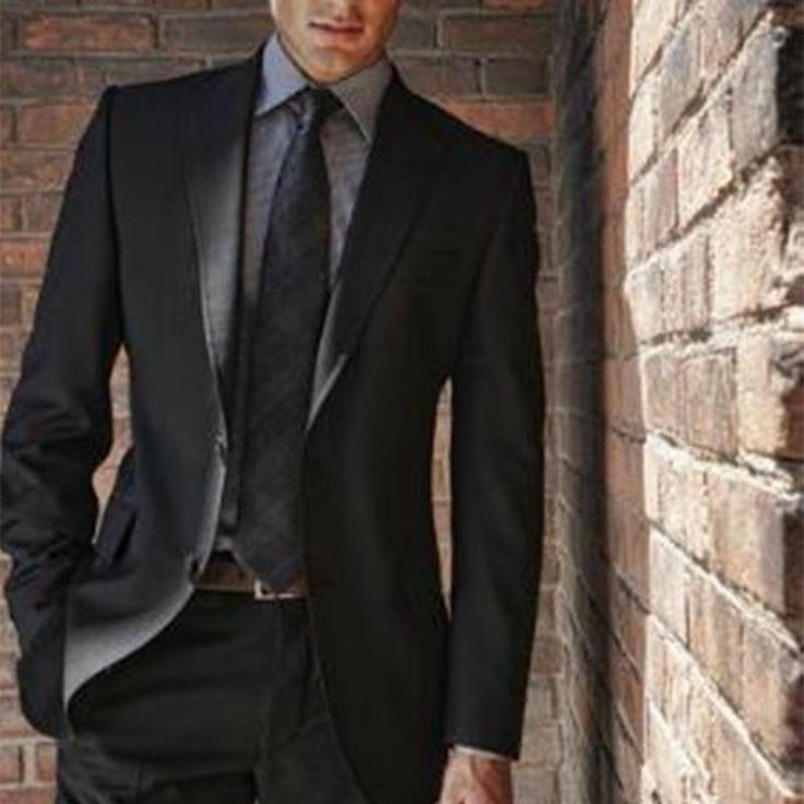 4121ded00524 2017 new Black slim fit Men Suit costume homme Vest Formal Business - US   70.31