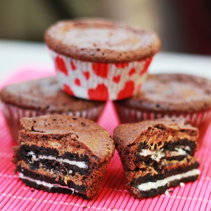 Oreo peanut butter brownie cups