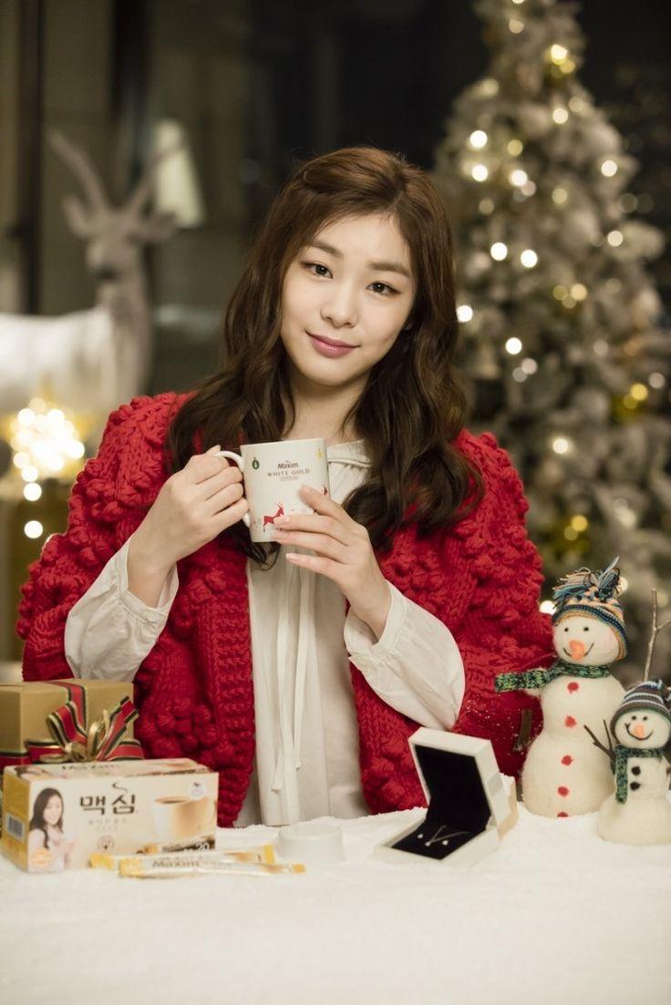 #Yuna Kim #김연아 - maxim white gold coffee