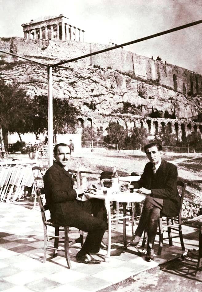 Αθήνα...1928. Νίκος Καζαντζάκης.