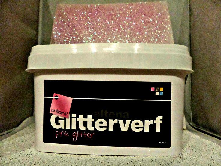 Mooi Roze Glitters Voor Op De Muur Www Glitterverf Nl