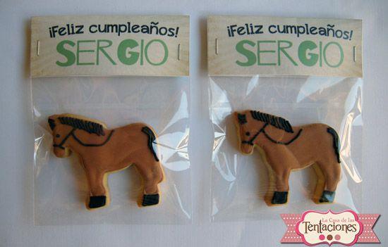 galletas decoradas cumpleaños. Galletas de caballos