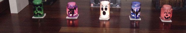 Lanterne Halloween con barattoli di vetro, tempere e un pizzico di fantasia