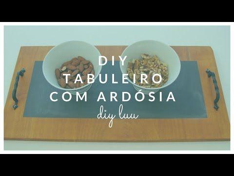 DIY Tabuleiro de Madeira com tinta de ardósia | diyluu - YouTube