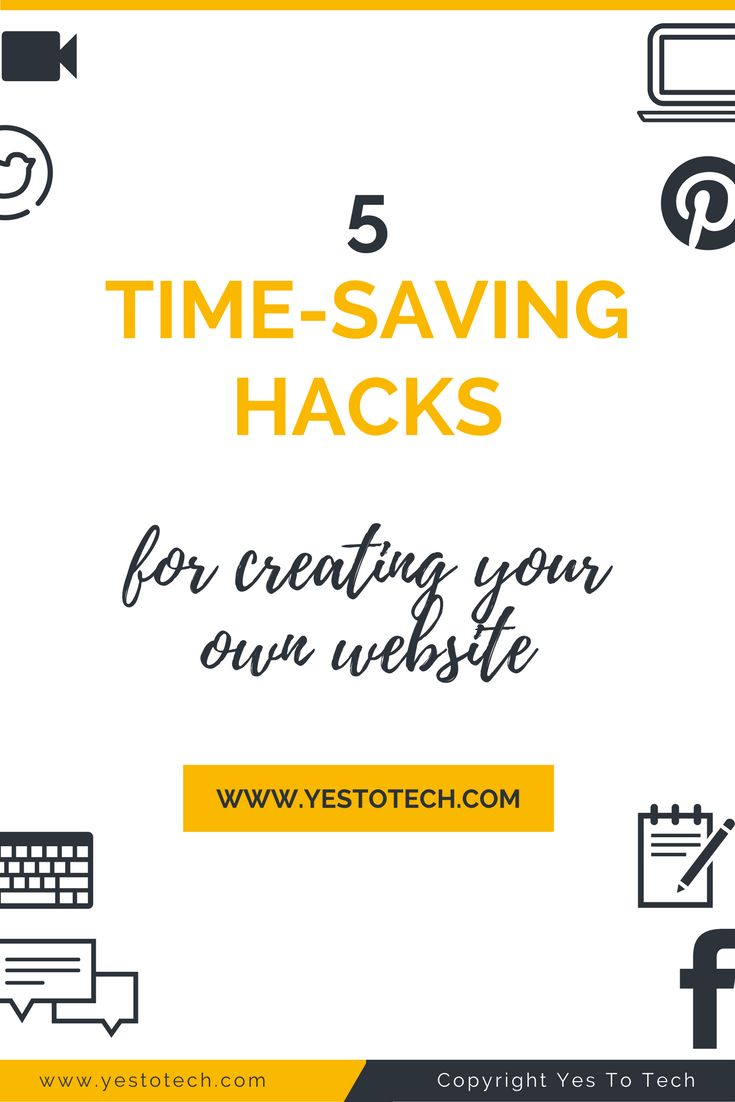 5 Time Saving Hacks For Creating Your Own Website. Struggling to create your own website? Here's a step-by-step guide to help you set your priorities straight, cut out useless tasks, and achieve your goals. time saving tips for moms | time saving tips | time saving | time saving hacks | time saving tips life hacks | Time Saving Templates | Time Saving Resource | Time Saving Teacher | Time Saving Ideas | > Time Saving Hacks for Moms < | Time Saving Kitchen Tips