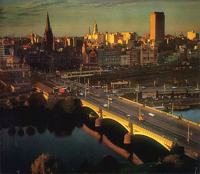 Princes Bridge in the '60s by spin spin, via Flickr